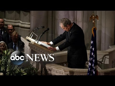 Bush remembers his father: He listened and he consoled