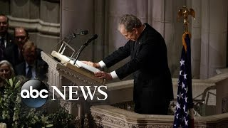 Bush remembers his father: 'He listened and he consoled'