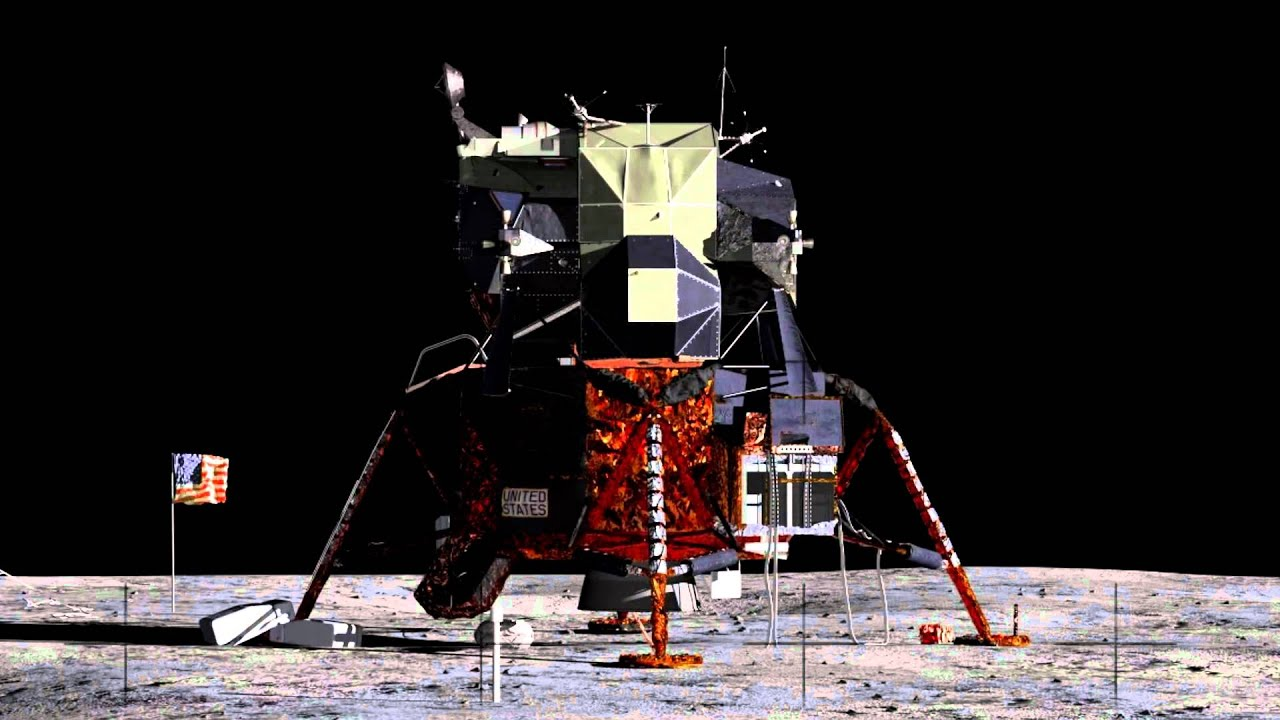 Apollo 11 Lift off from the Moon, CG Animation - YouTube
