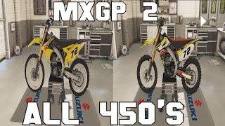 MXGP 2 all 450 Bikes stock and custom