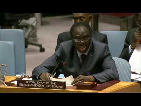 Exposé de M. Michel Kafando, Envoyé spécial pour le Burundi, sur la situation au Burundi