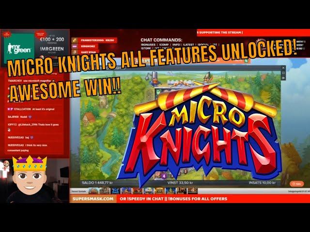 Micro Knights ALL features!! Mega Win