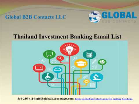 Thailand Investment Banking Email list