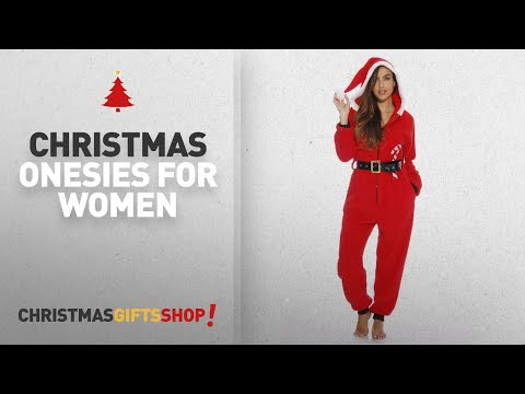 Top Christmas Onesies For Women Ideas: 6412-XL Just Love Adult Onesie / Onesies / Pajamas/ Santa