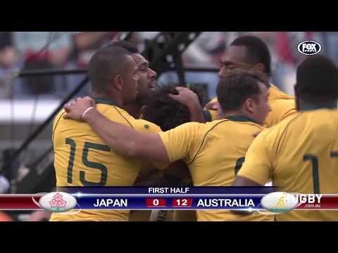 Wallabies vs Japan highlights