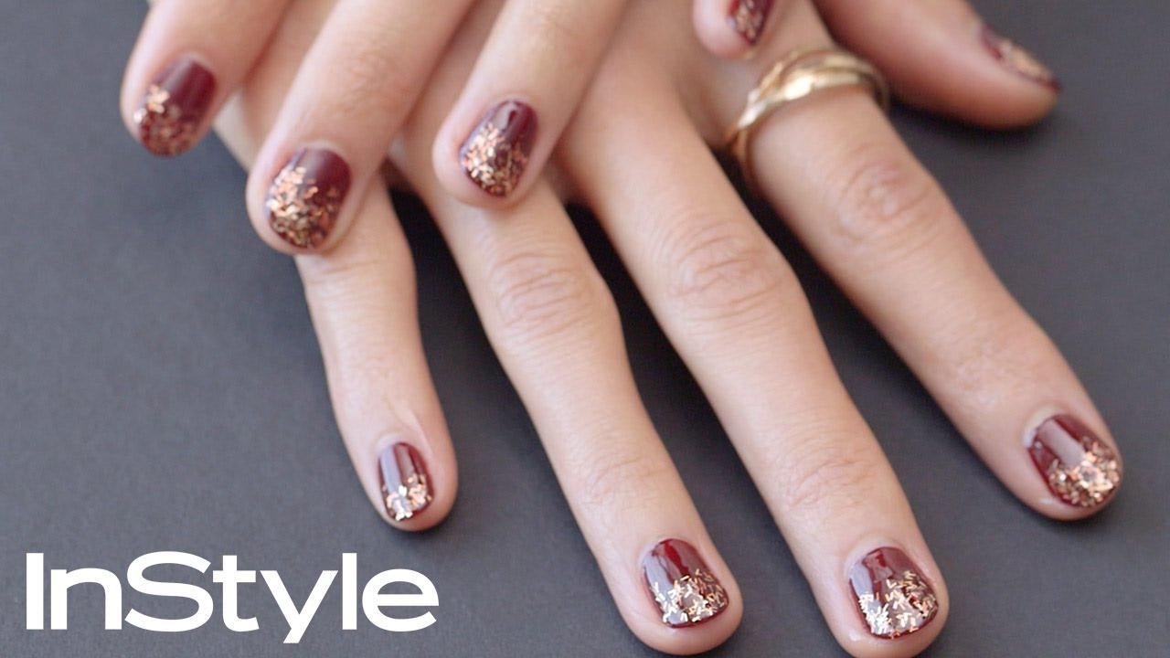 Perfect Holiday Nails-DIY | InStyle - YouTube