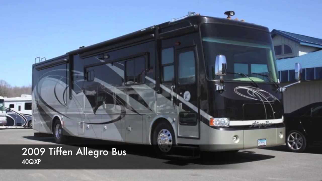 Motorcoach For Sale >> Used 2009 Tiffin Allegro Bus 40QXP for Sale - Steinbring Motorcoach - Minnesota - YouTube