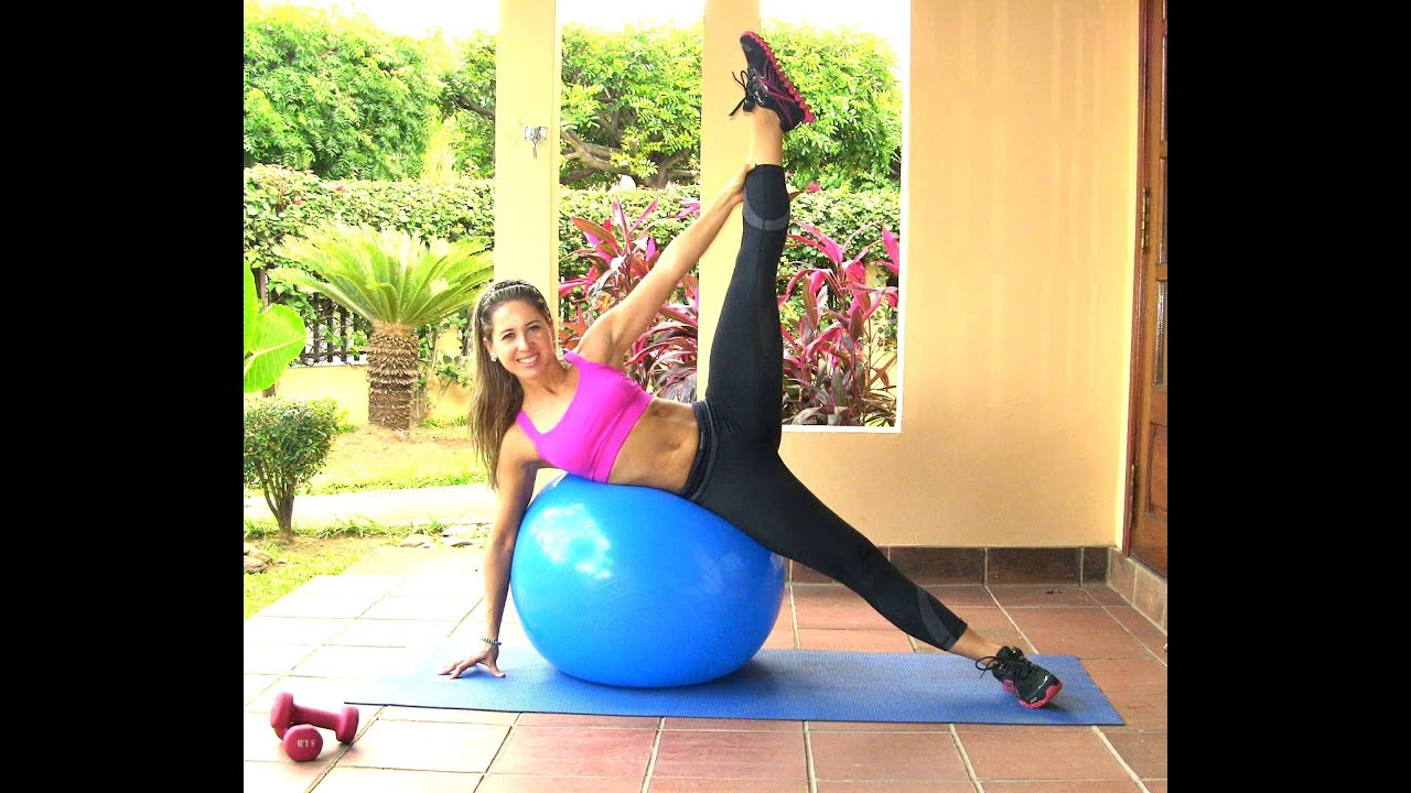 Leaner Legs-Tighter Body Workout with Swiss Ball - YouTube