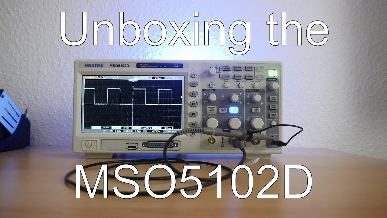 Hantek mso5102d 100mhz 2 ch 1gsa/s oscilloscope 16ch logic.