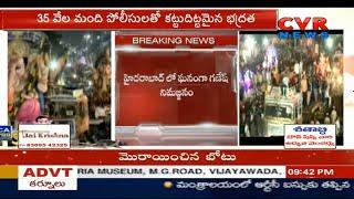 Ganesh Immersion Procession Underway In Hyderabad Amid Tight Security | CVR News