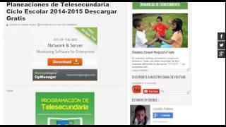 PLANEACIONES DE TELESECUNDARIA 2014 2015| DESCARGAR PLANEACIONES 2014