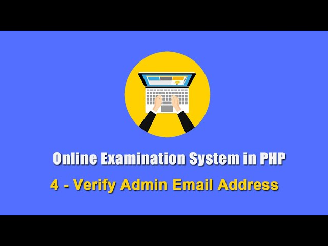 4 - Verify Admin Email Address - Online Examination System in PHP