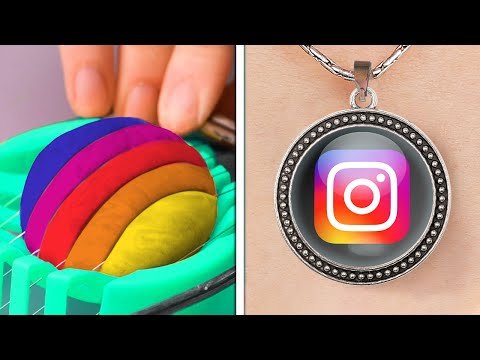 Cool POLYMER CLAY DIY Crafts || Jewelry, Mini Food, School And Home Decor
