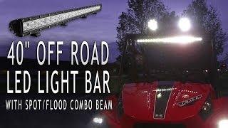 40 off road led light bar with spot flood combo beam 120 watt