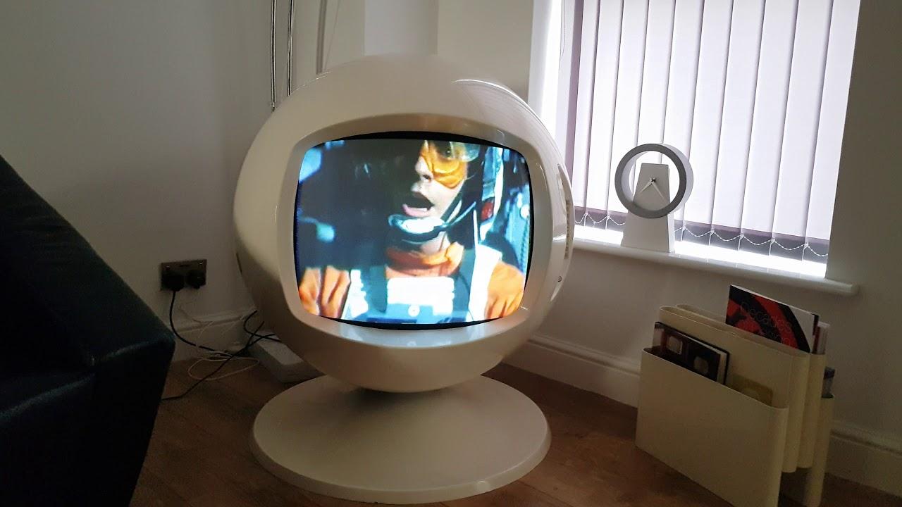 Keracolor TV Retro 1970s Space Age Television Set Decca