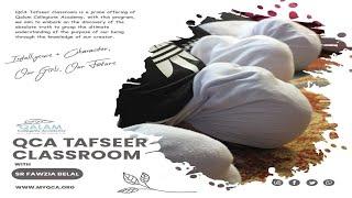 Surah Hijr 30  | QCA Tafseer Classroom | Sr Fawzia Belal | Qalam Collegiate Academy