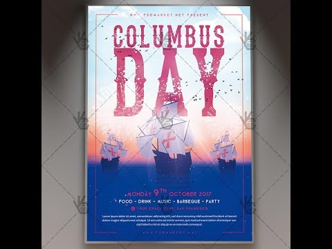 Columbus Day - American Flyer PSD Template