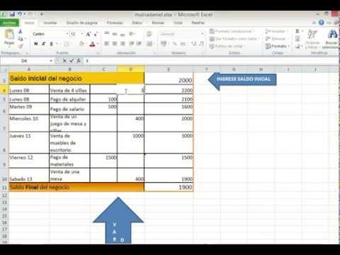 Como usar hoja de gastos e ingresos en excel - YouTube