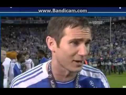 Bayern Munich vs Chelsea   Chelsea WIN Champions League   Frank Lampard Interview 19 5 2012   YouTube