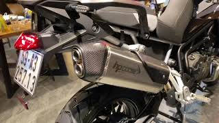 Triumph Tiger 900 GT Pro 2020 with HPcorse Exhaust