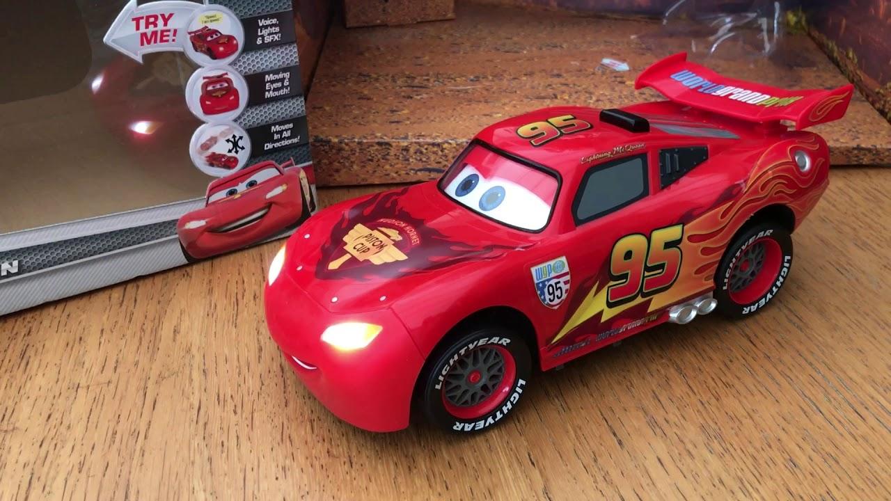 Disney Cars Toys Youtube: Cars U-Command Lightning McQueen Disney Pixar Thinkway
