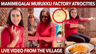 Manimegalai Vera Level Fun Inaugurating Murukku Factory in the Village   Funny Video