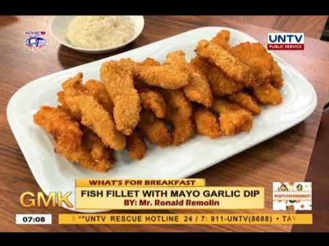Fish Fillet With Mayo Garlic Dip | What's For Breakfast