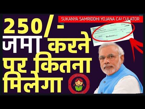 Sukanya Samriddhi Yojana Calculator - SSY Calculator 2018 सुकन्या समृद्धि योजना कैलकुलेटर इन हिन्दी