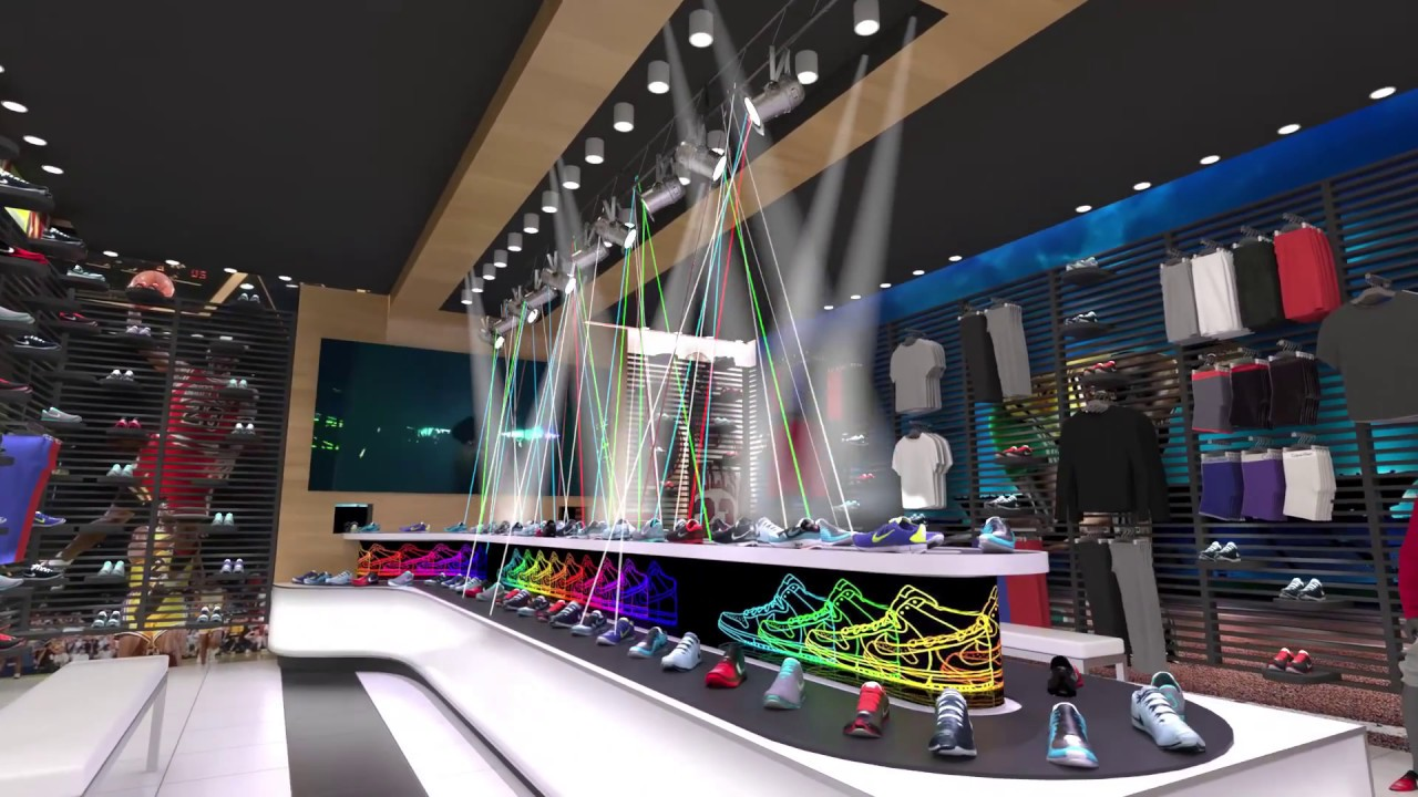 Nike store design by lmi designs youtube for Design outlet