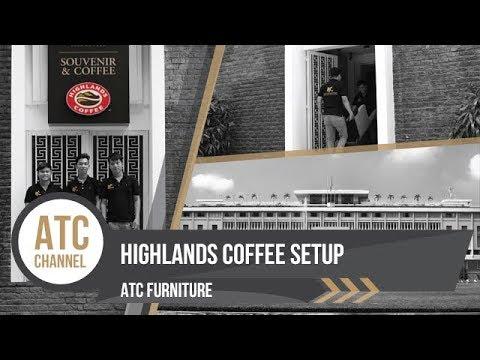 Setup Wicker Furniture - Highlands Coffee Independence Palace   ATC Furniture 2017