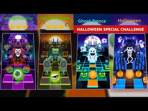 Rolling Sky All Halloween Theme Levels - Midnight Carnival,Halloween Escape etc. | SHA
