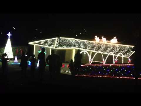 Xmas lights Calder St Brassall Qld