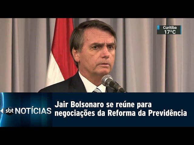 Jair Bolsonaro se reúne para negociações da Reforma da Previdência | SBT Notícias (27/02/2019)
