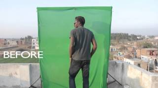 green screen compositing vfx #hitfilm#