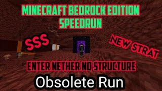 Enter Nether No Structure Set Seed Speedrun | Minecraft Speedrun Indonesia