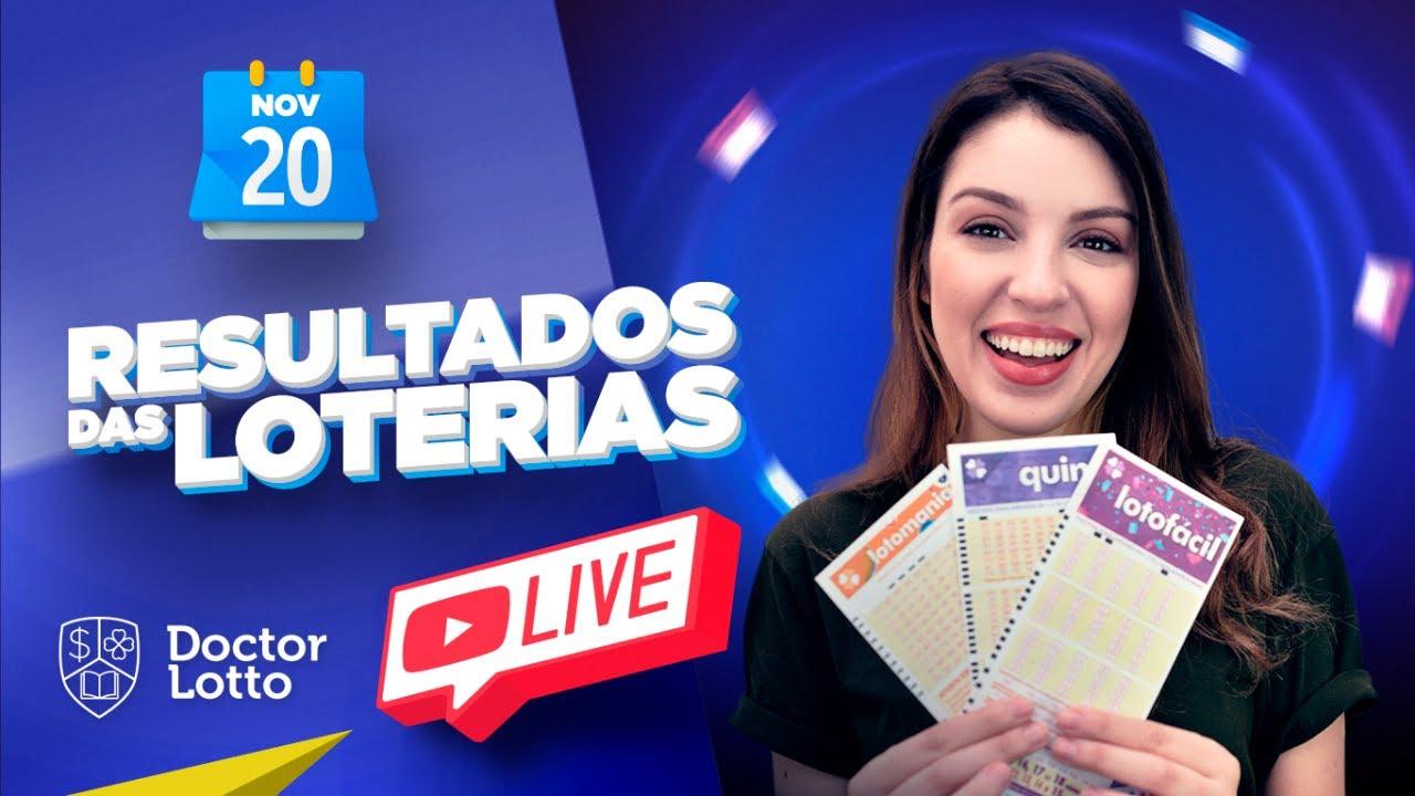 🔴 Loterias Caixa: Resultado da Lotofácil 2087 | Lotomania 2128 e mais | AO VIVO - 20/11