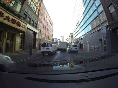 Driving on Mott Street in SOHO & Chinatown