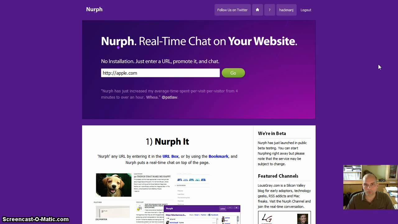 create a chat website