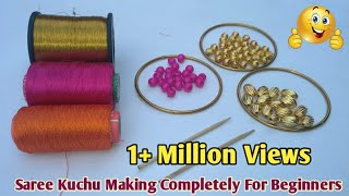 Very Easy Way To Make Saree Kuchu For Beginners | Latest Saree Kuchu / Saree Tassel Designs