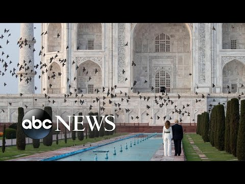 Trump Visits India, Protests In Chile, Coronavirus: World In Photos, Feb. 24, 2020