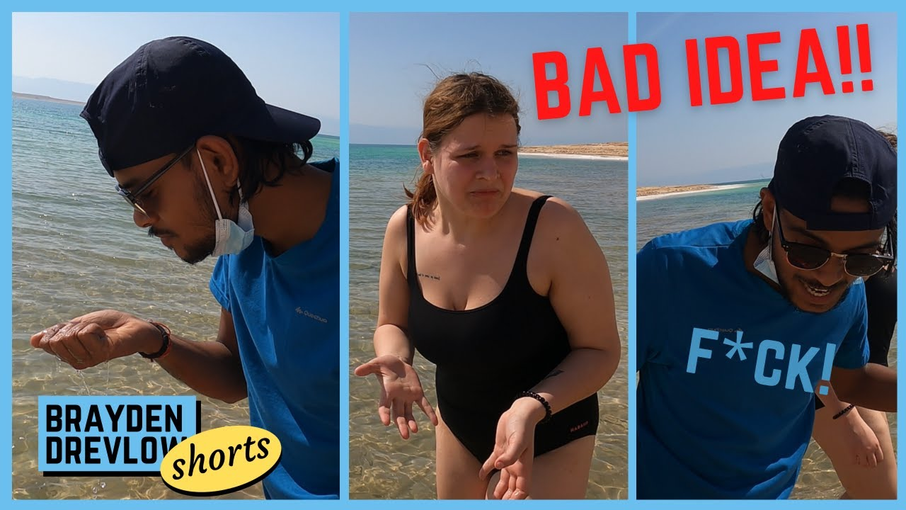 (fail) - Drinking water from the Dead Sea      #shorts