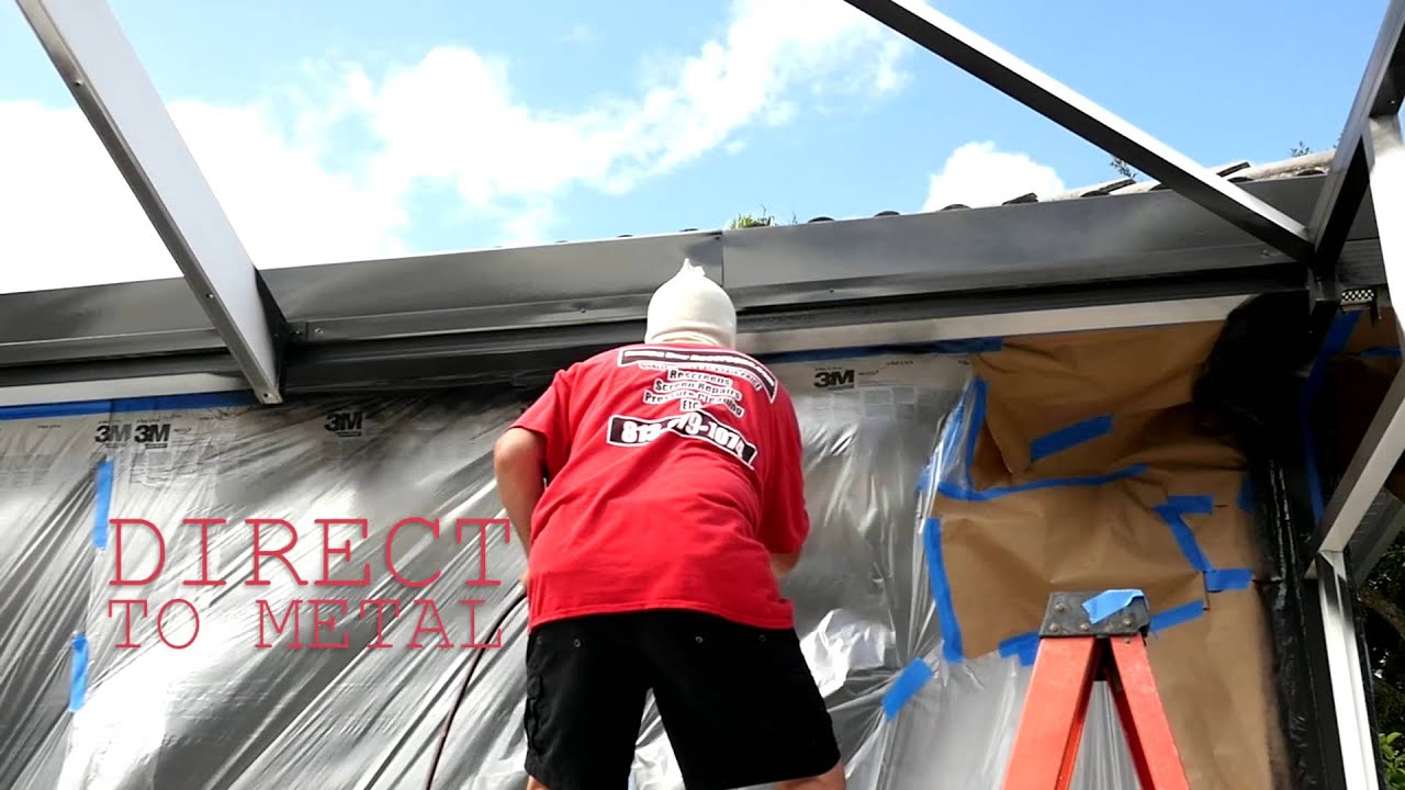 Tampa pool enclosure painting and rescreen youtube for Cost to build a lanai