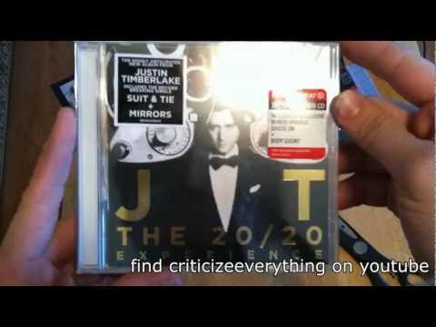 Review Everything: UNBOXING Justin Timberlake's 20/20 Experience Album