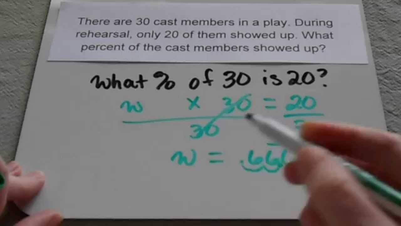 small resolution of Finding percent in word problems (6th grade and up) - YouTube