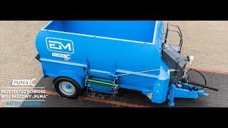 Wóz paszowy poziomy Euromilk PUMA- test pracy