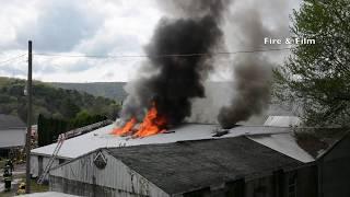 Fire destroys building - Hegins, PA - 05/07/2018