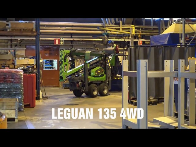 Leguan Lifts in action: L135 4WD facility maintenance (2015)