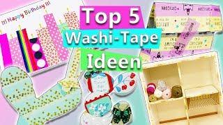 Zapętlaj Top 5 DIY Ideen mit WASHI TAPE | Back to school, Ikea, Deko, Geschenke schnell & einfach | Basteln | DIY Inspiration - kreative Ideen zum Selbermachen