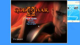 Repeat youtube video Best settings for god of war 2  pcsx2 0.9.8 full speed!!