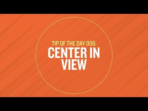 Tip 008 - Center in View in After Effects